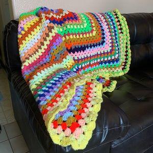 Handmade Granny Blanket,Crochet Blankets